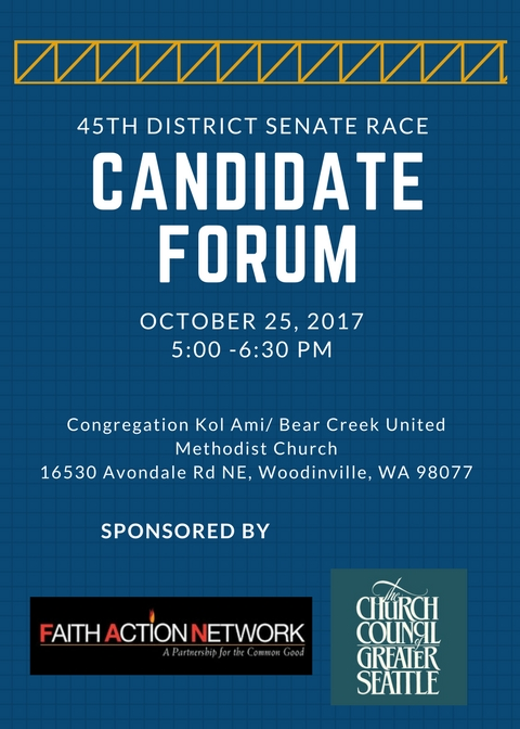 State Senate Candidate Forum – 45th District