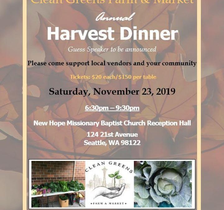 Clean Greens Farm & Market Harvest Dinner